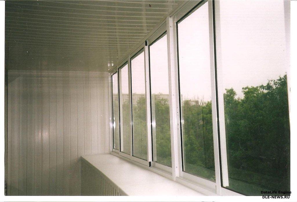 Остекление балконов, отделка балконов и лоджий, остекление л.
