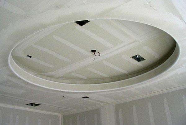 Потолок из гипсокартона в кухне своими руками